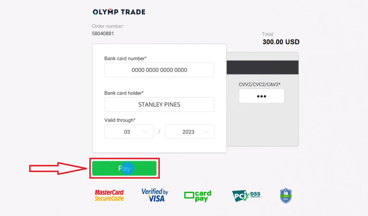 Cara Mendeposit Wang di Olymp Trade